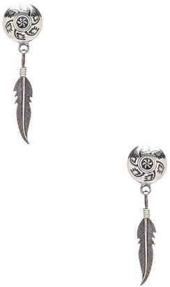 Natalie B Mojave Feather Stud Earrings