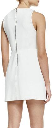 Alice + Olivia Sleeveless Cutout-Back A-Line Dress