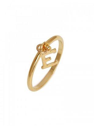 BaubleBar Initial Charm Ring