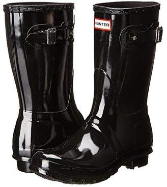 Hunter Short Gloss (Black) Women's Rain Boots