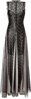 Marios Schwab Embroidered Gown