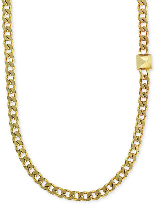 Vince Camuto Necklace, Gold-Tone Single Stud Chain Necklace