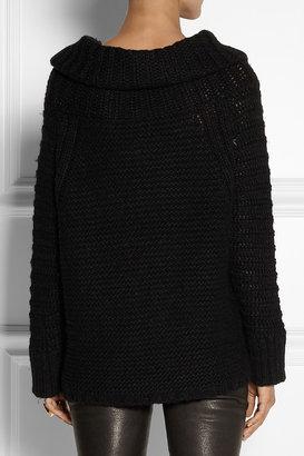 Donna Karan Alpaca, silk, cashmere and wool-blend sweater