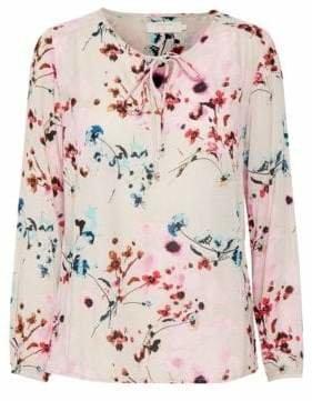 Cream Alison Floral Blouse