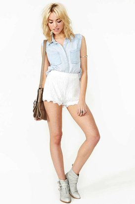 Nasty Gal Gilded Lily Lace Shorts