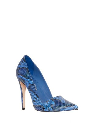 Alice + Olivia Dina Sea Snake Print Leather Heel