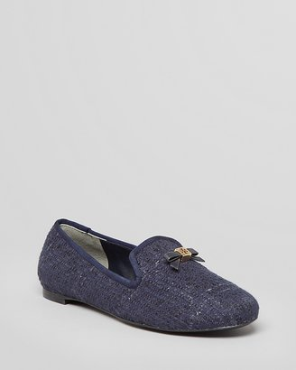 Tory Burch Smoking Flats - Chandra Tweed