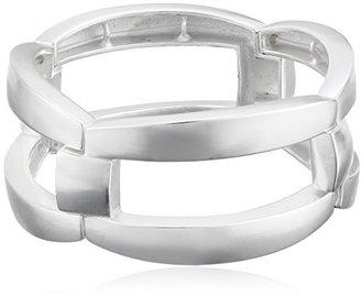 Kenneth Cole New York Silver-Tone Link Stretch Bracelet