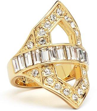 Rachel Zoe Deco Cut-Out Crystal Ring