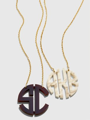 BaubleBar Acrylic Block Monogram Necklace