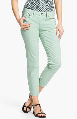 Tory Burch 'Alexa' Crop Skinny Stretch Jeans (Seaglass)