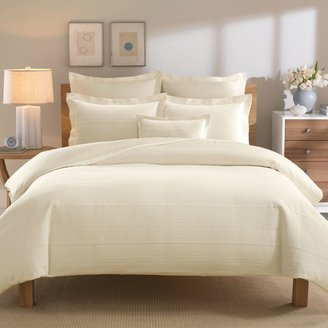 Bed Bath & Beyond Real Simple® Linear Ivory Duvet Cover
