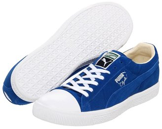Puma Clyde Script TC (Snorkel Blue/White) - Footwear