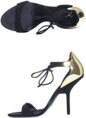 Giuseppe Zanotti Gold plated back detail sandals