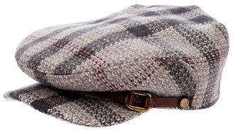 Burberry check flat cap