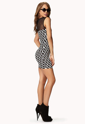 Forever 21 Geo Print Bodycon Dress