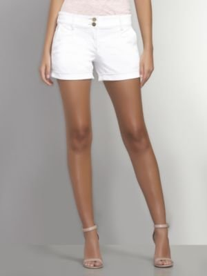 New York & Co. Pleated-Front Denim Short with Rolled Cuff