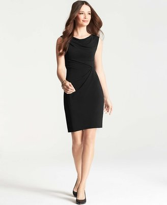 Ann Taylor Petite Draped Cowl Neck Sheath Dress