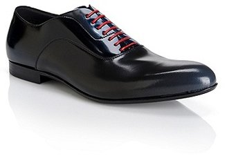 HUGO BOSS Fattion Italian Leather Oxfords - Black