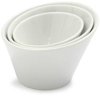 Sur La Table Blanc Slanted Appetizer Bowl