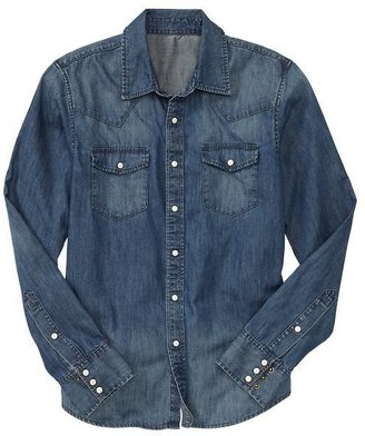 Gap 1969 Vintage Western Shirt (light Indigo Wash)