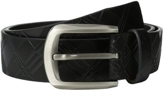 Stacy Adams Men's 38mm Leather Belt with Criss-Cross Design