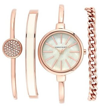 Women's Anne Klein Round Watch & Bangle Set, 32Mm $150 thestylecure.com