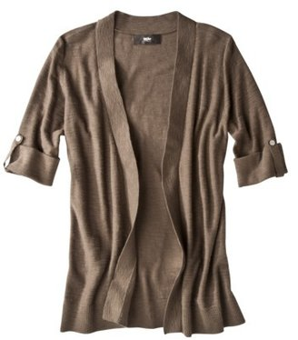 Mossimo Womens Open Cardigan Sweater w/Tab Sleeves - Stuffed Olive