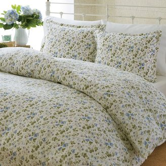 Laura Ashley spring bloom 3-pc. flannel duvet cover set - king