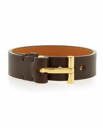 TOM FORD Nashville Men's Leather Bracelet, Brown $390 thestylecure.com