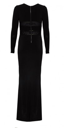 Alice + Olivia Long Sleeve Maxi Dress With Leather