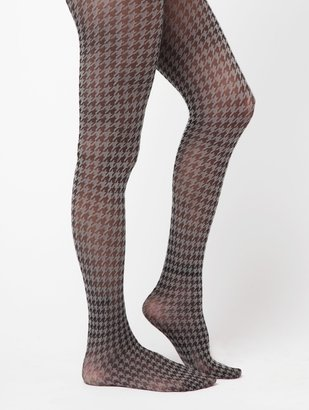 Hue Houndstooth Tights W/Control Top