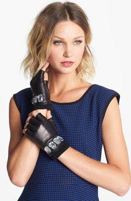 MICHAEL Michael Kors Fingerless Leather Gloves