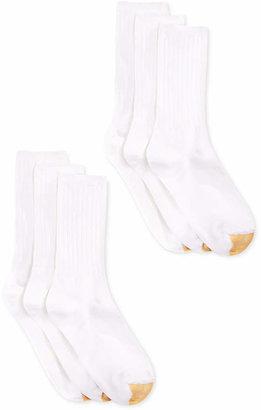 Gold Toe Women Ribbed Crew 6 Pack Socks