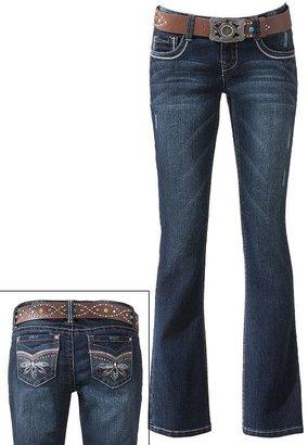 Wallflower rhinestone bootcut jeans - juniors