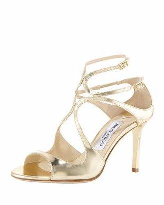 Jimmy Choo Ivette Mirrored Crisscross Sandal