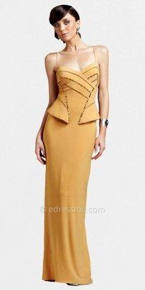 Mignon Beaded Peplum Evening Dresses
