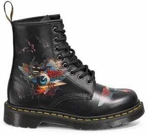 Dr. Martens Originals Rick Griffin Eye Leather Lace-Up Boots