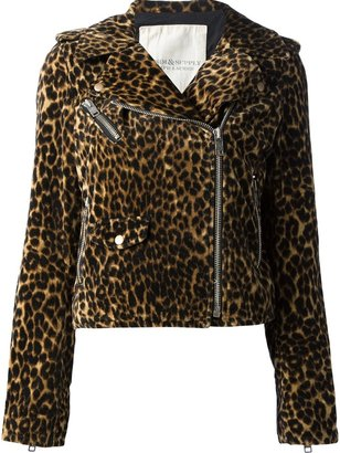 Denim & Supply Ralph Lauren leopard print biker jacket