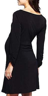 JCPenney Maternity Long-Sleeve Solid Dress