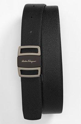 Men's Salvatore Ferragamo Reversible Leather Belt $440 thestylecure.com