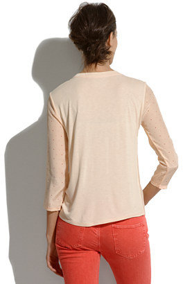 Madewell Silk-Front Tee in Colorpoint