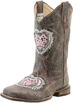 Roper Square Toe Hearts and Glitter Western Boot (Toddler/Little Kid)