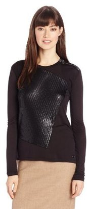 Calvin Klein Jeans Women's Long Sleeve Jersey with Sequins