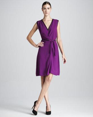 Rachel Roy Crepe V-Neck Wrap Dress