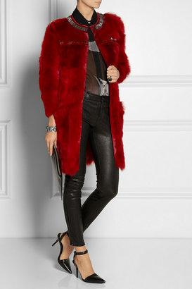 Roberto Cavalli Embellished shearling coat