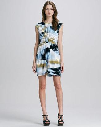 4.collective Prism-Print Silk Dress
