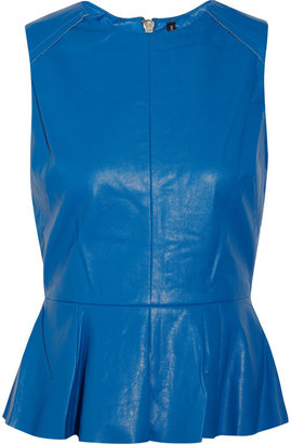 Walter W118 by Baker Barry faux leather peplum top
