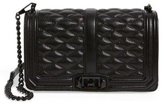 Rebecca Minkoff Love Leather Crossbody Bag - Black $295 thestylecure.com