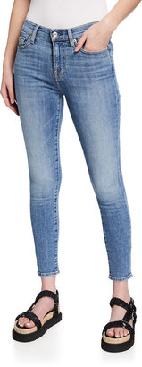 7 For All Mankind Ankle-Length Bleached Hem Skinny Jeans